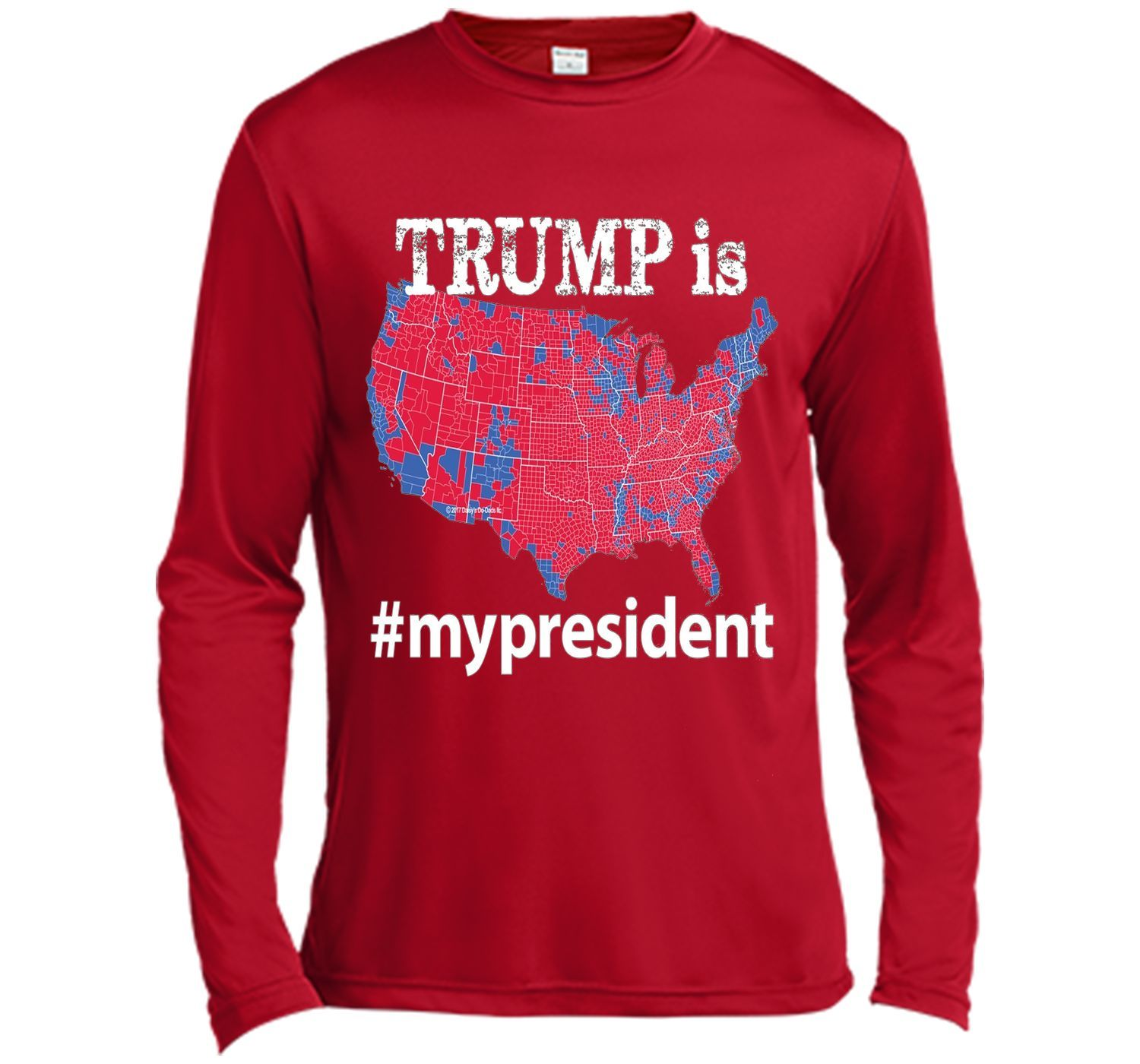 TRUMP Is My President Hashtag USA Election Map T Shirt - T shirts with 2016 electoral map of us