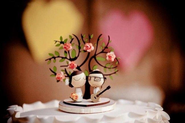 25 ideias para escolher o topo de bolo de casamento