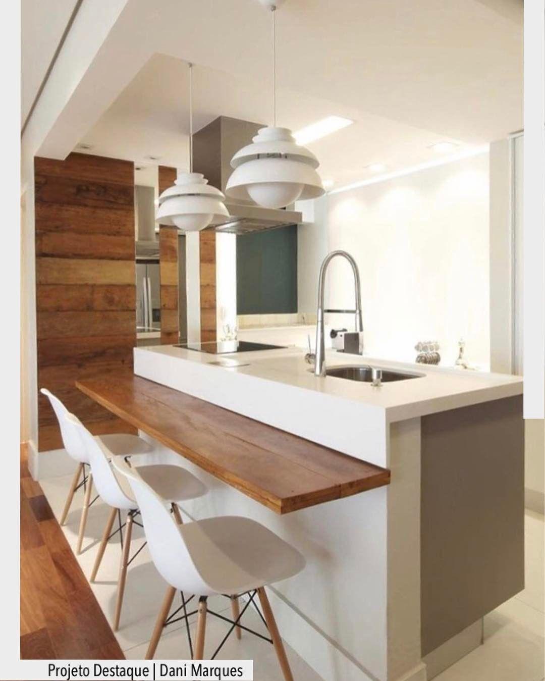 Cozinha Ilha Integrada Com A Sala Por Dani Marques Ad Http Ift