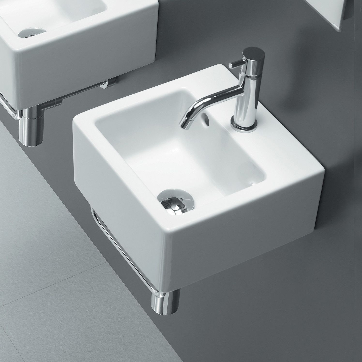 Bissonnet Area Boutique Ice Small Square Ceramic Bathroom Sink Ceramic Bathroom Sink Wall Mounted Bathroom Sinks Sink