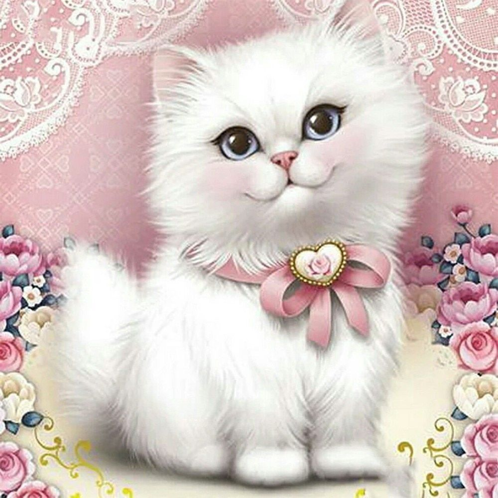 Cat 5d Diamond Painting Embroidery Diabroidery In 2020 Animal Paintings Diamond Painting Cross Paintings
