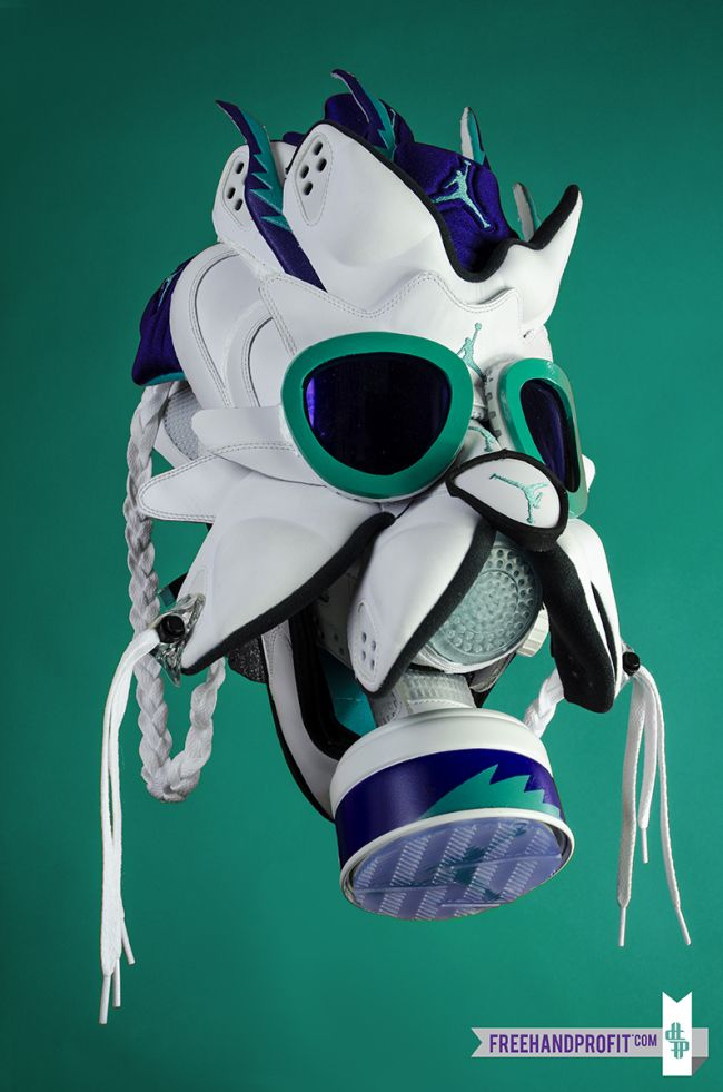 free shipping 5db70 67842 Jordan Grape 5 Gas Mask By Freehand Profit Ⓙ ⍣∙₩ѧŁҝ!₦ǥ∙⍣