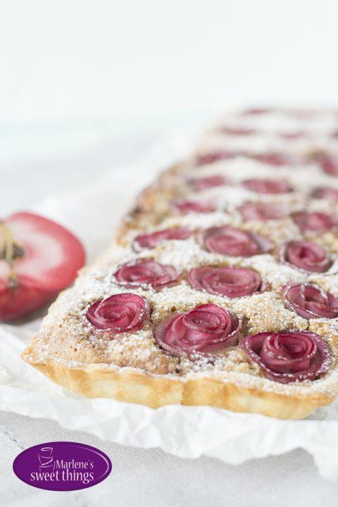 Apfelrosen Tarte mit Mandelfüllung - Marlenes sweet things