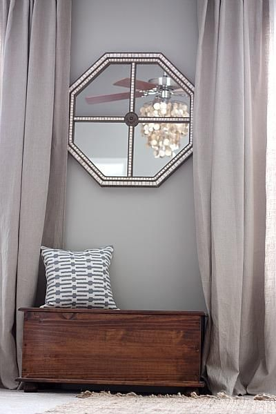 Loving Brown And Gray Together Now A Pop Of Green And We Are Good To Go Grey Curtains Living Room Grey Walls Living Room Paint
