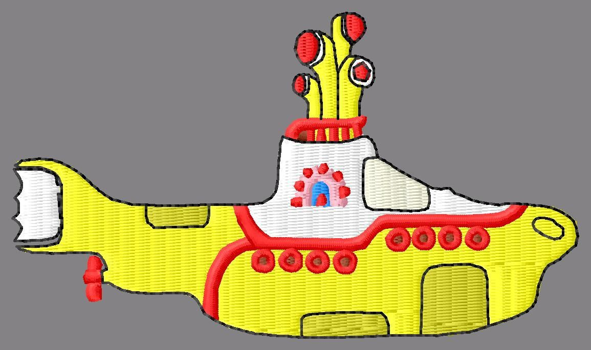 Beatles Yellow Submarine Embroidery Designs Beatles Pinterest
