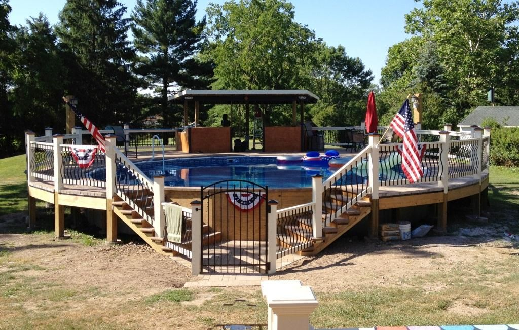 Above Ground Composite Pool Deck above ground pool decks |  system opens possibilities for above