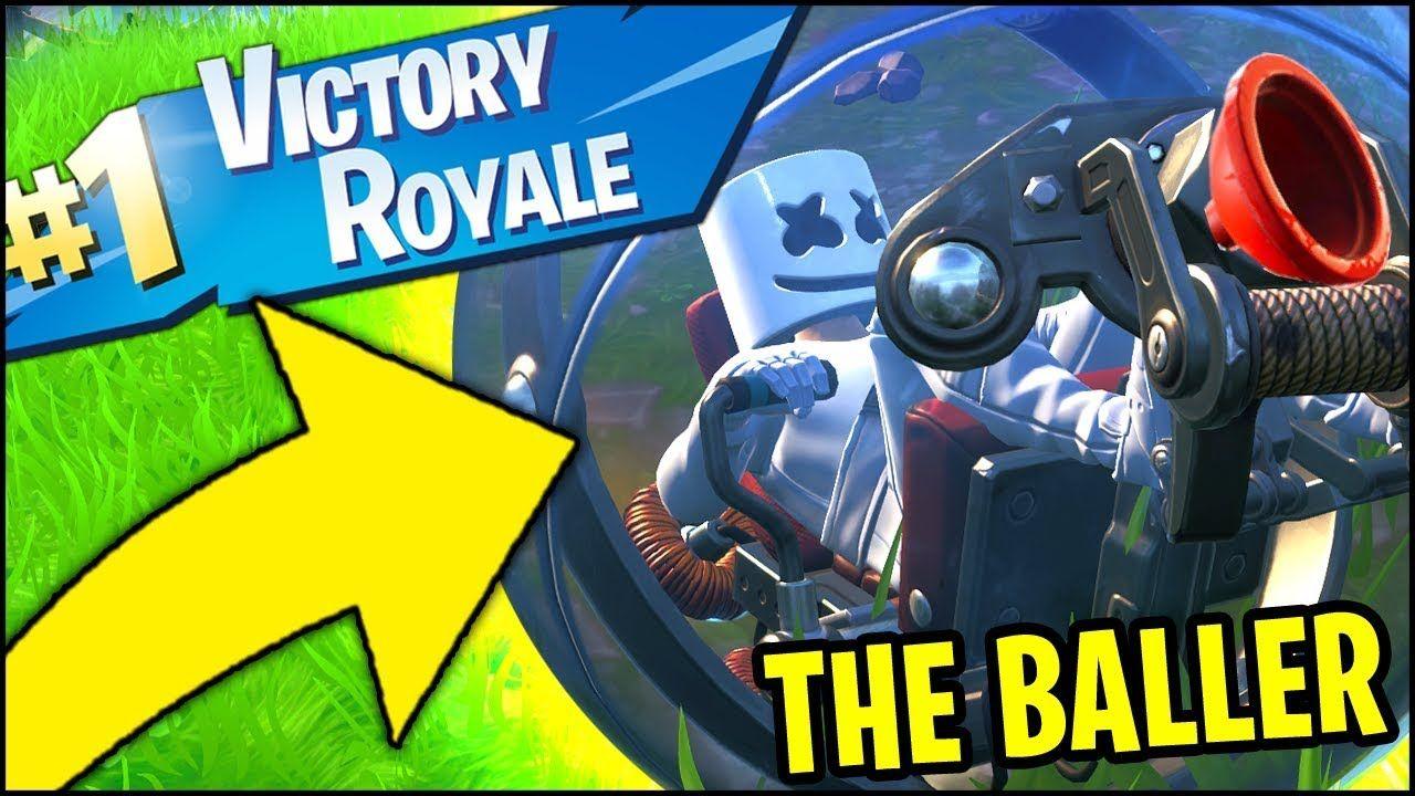 Fortnite The Baller Victory Royale Gameplay All Baller Spawn