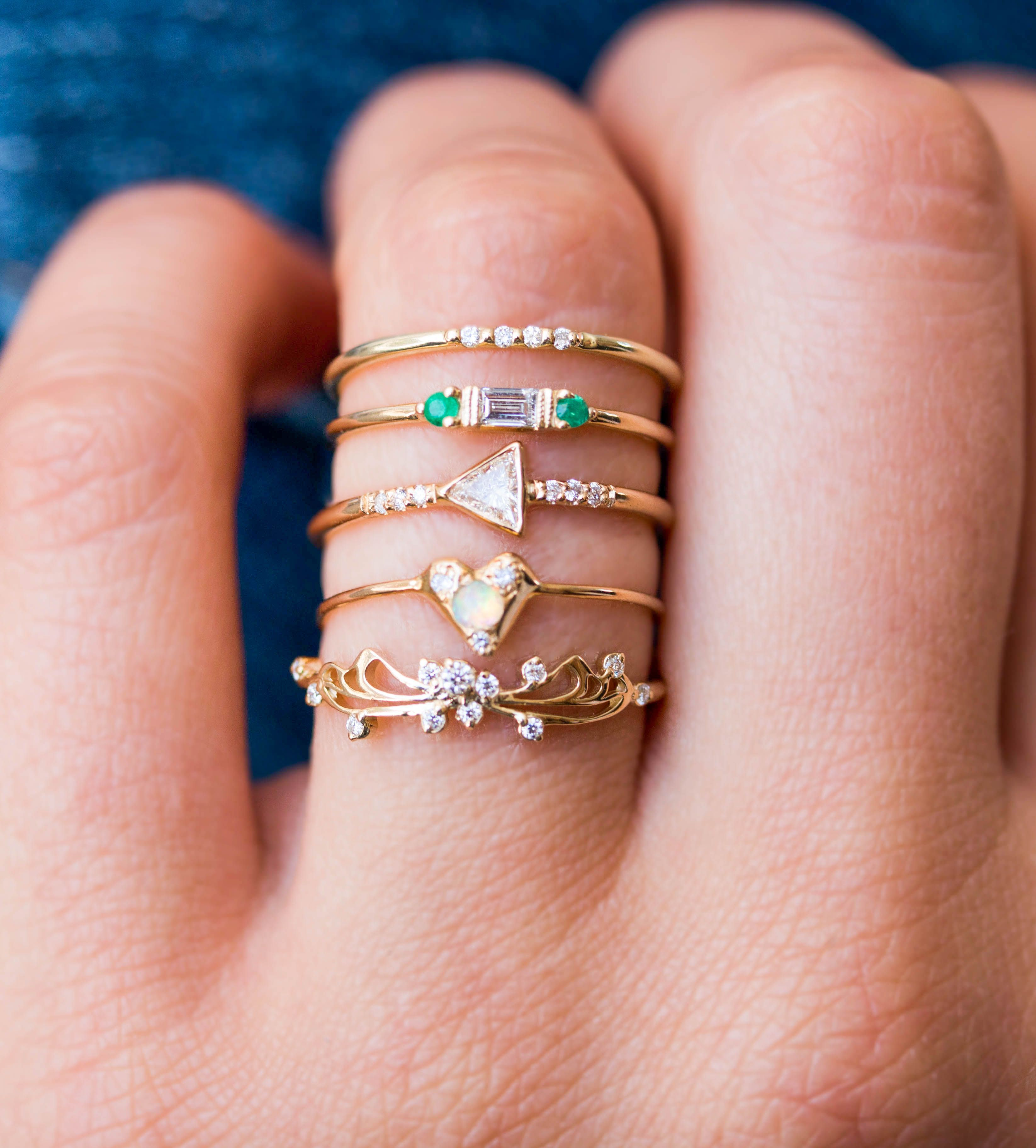 A stack of dainty pieces come together for a big statement ✨ | Ooh ...
