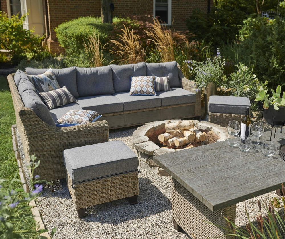 Broyhill Patio 5-Piece Cushioned Sectional All-Weather ... on Outdoor Sectional Big Lots id=90877
