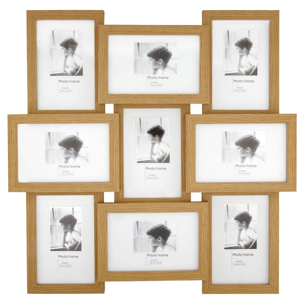 wilko photo frame multi frame light wood 6inx4in