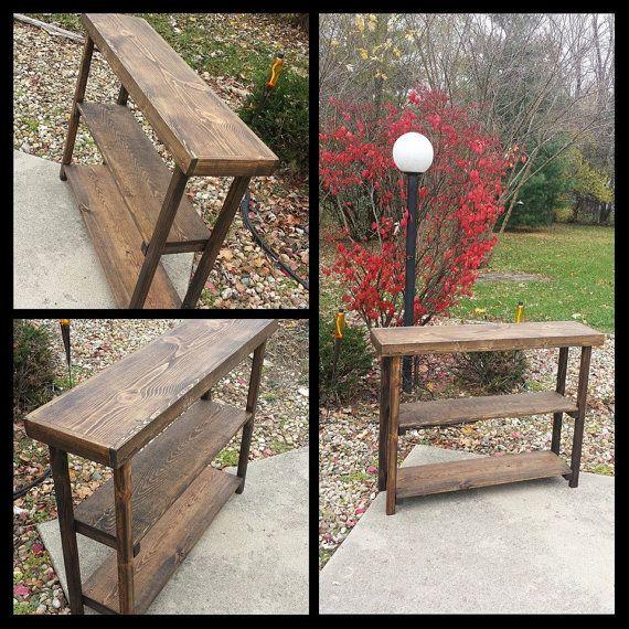 Terrific Rustic Primitive Reclaimed Wood Sofa Hall Console Table Book Machost Co Dining Chair Design Ideas Machostcouk