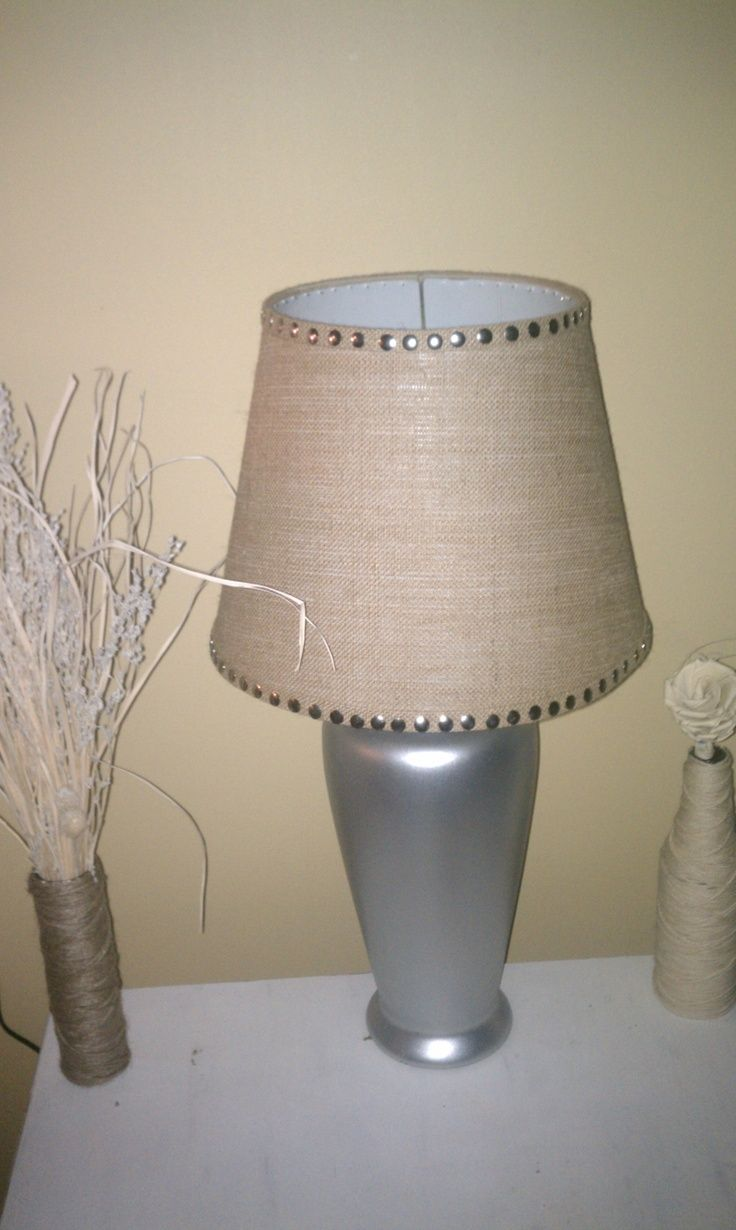 Burlap Lamp Shade Ideas Burlap Lampshade Lamp Shade Lamp