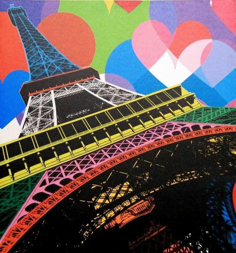 Colorida Torre Eiffel ...