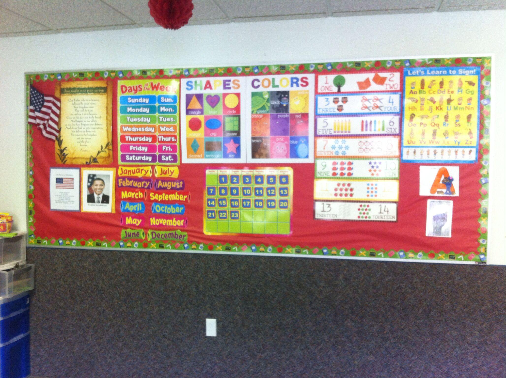 Preschool circle time wall