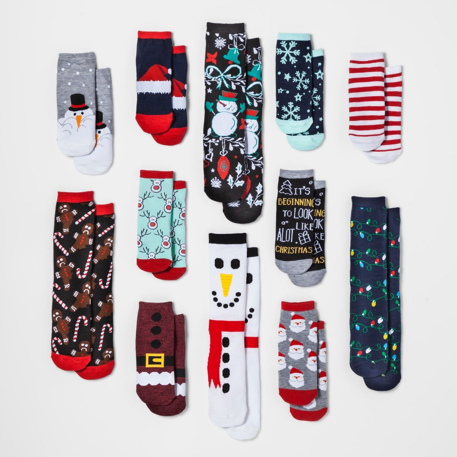 Who Needs A Partridge In A Pear Tree When You Can Have Socks In A Holiday Box Instead The Winter 12 Days Of Socks Set Christmas Socks Winter Target Christmas