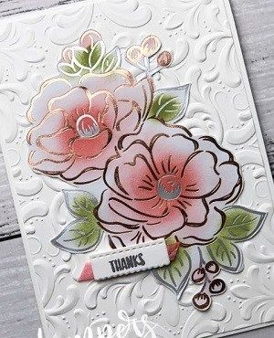 Hi everyone, today I am sharing a rather pretty card featuring the Flowering Foils Specialty Designer Series Paper (coming as a Sale-A-Bration reward from 03 March 2020). I have been having fun colouring the flowers with different colouring mediums. For this card, I used sponge daubers and two different coloured ink pads (Flirty Flamingo and … … Continue reading →