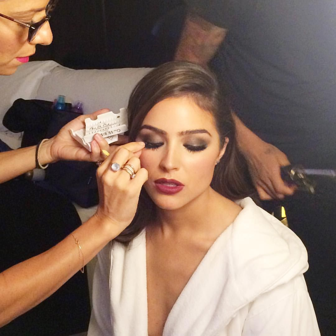 """Byrdie on Instagram: """"Lash time! Bumping up the look -@oliviaculpo // Makeup by @riskakis for @ctilburymakeup 