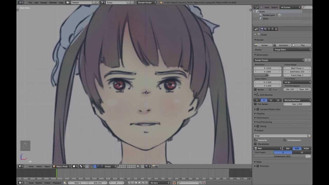 Part 1 24 Blender Anime Character Modeling Tutorial Reference And Eyes Anime Tutorial Character Modeling Anime