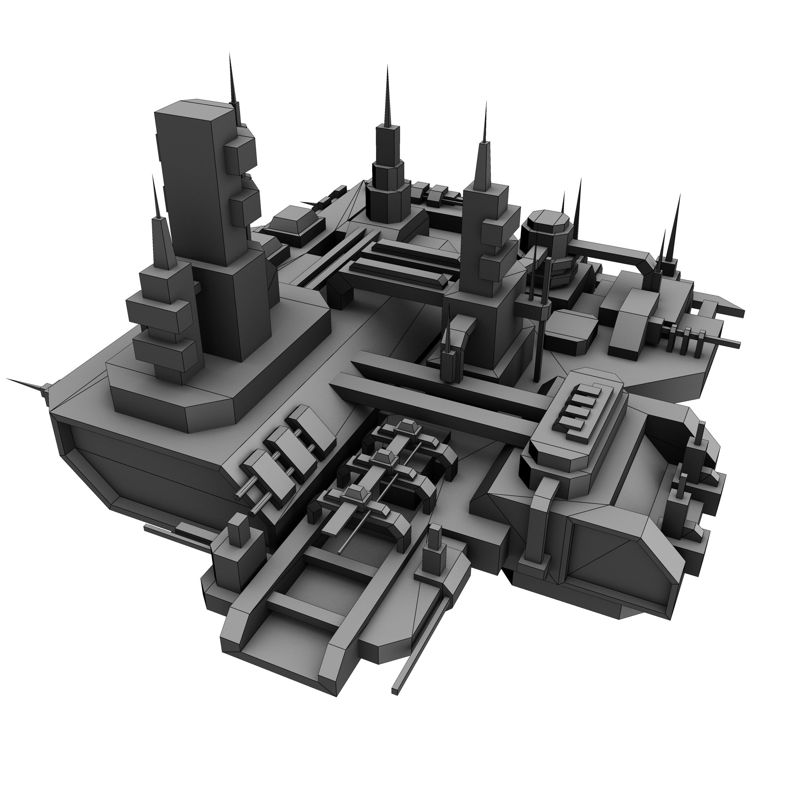 space station 3d | Building concept, Starship design ...