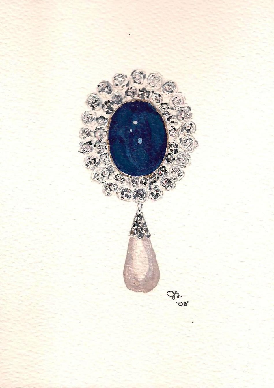 convolvolo sapphire michele della brooch diamond valle and pin