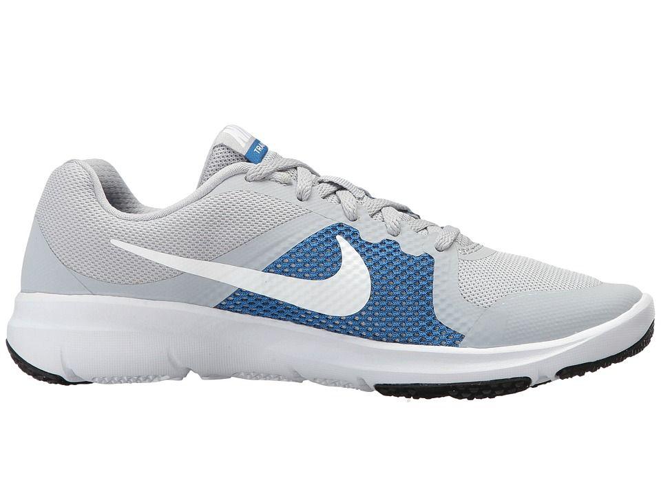 f77b07b5943a Nike Kids Flex TR Control (Little Kid) Boys Shoes Wolf Grey Black Blue  Jay White