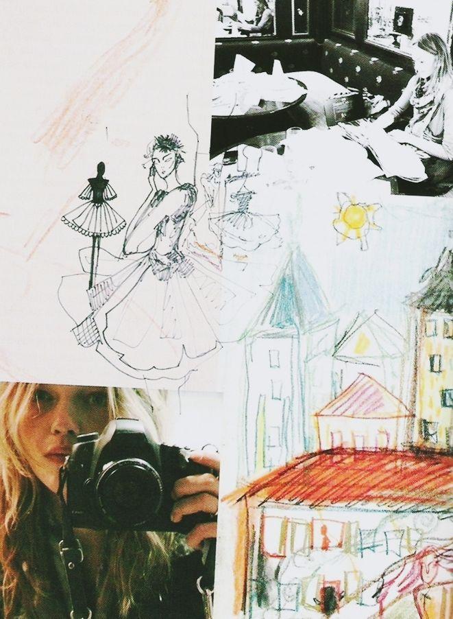 sasha pivovarova�s artwork in vogue paris february 2011