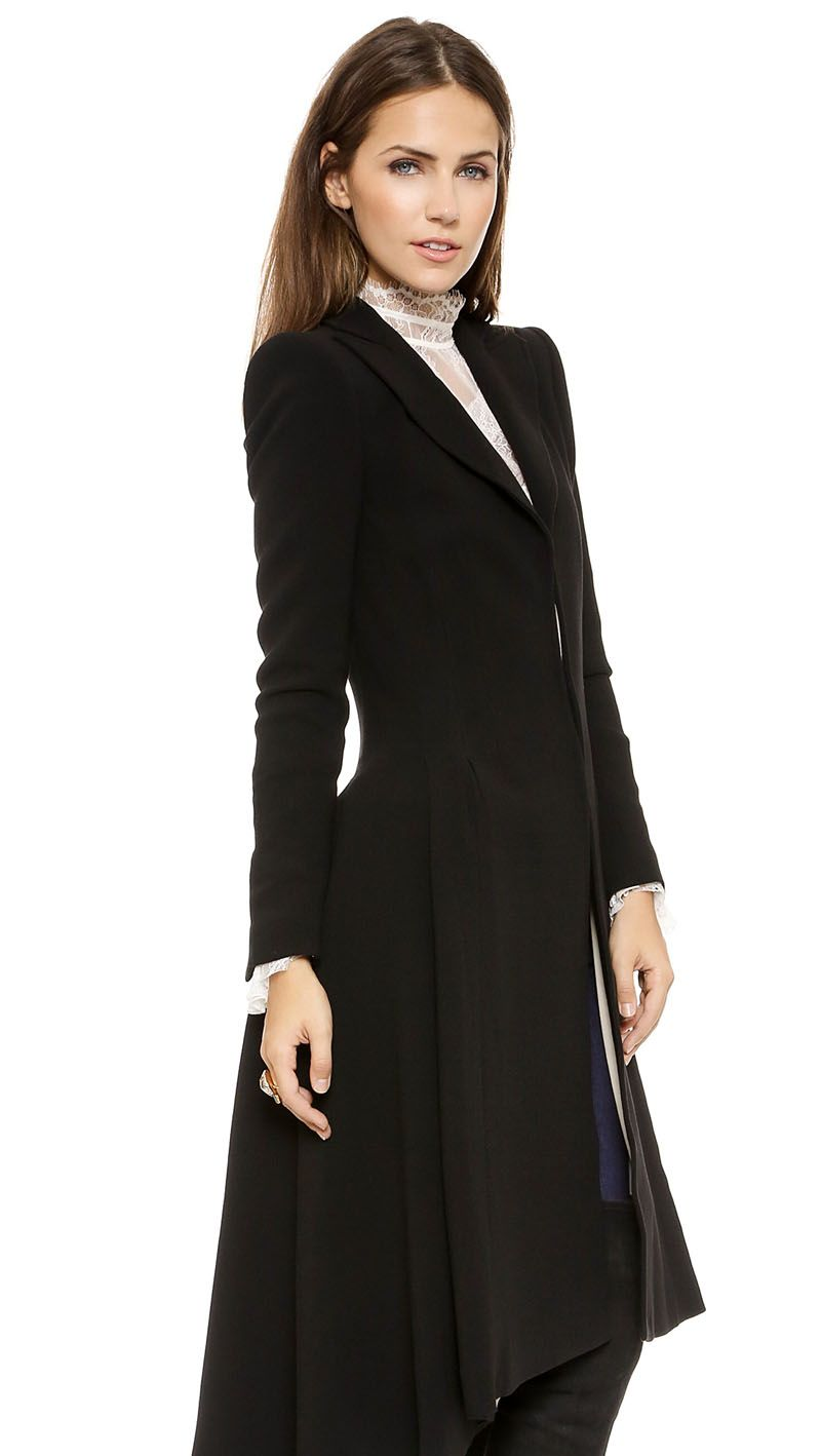 Steampunk Black Swallow Tail Wool Coat | Coats | Pinterest ...