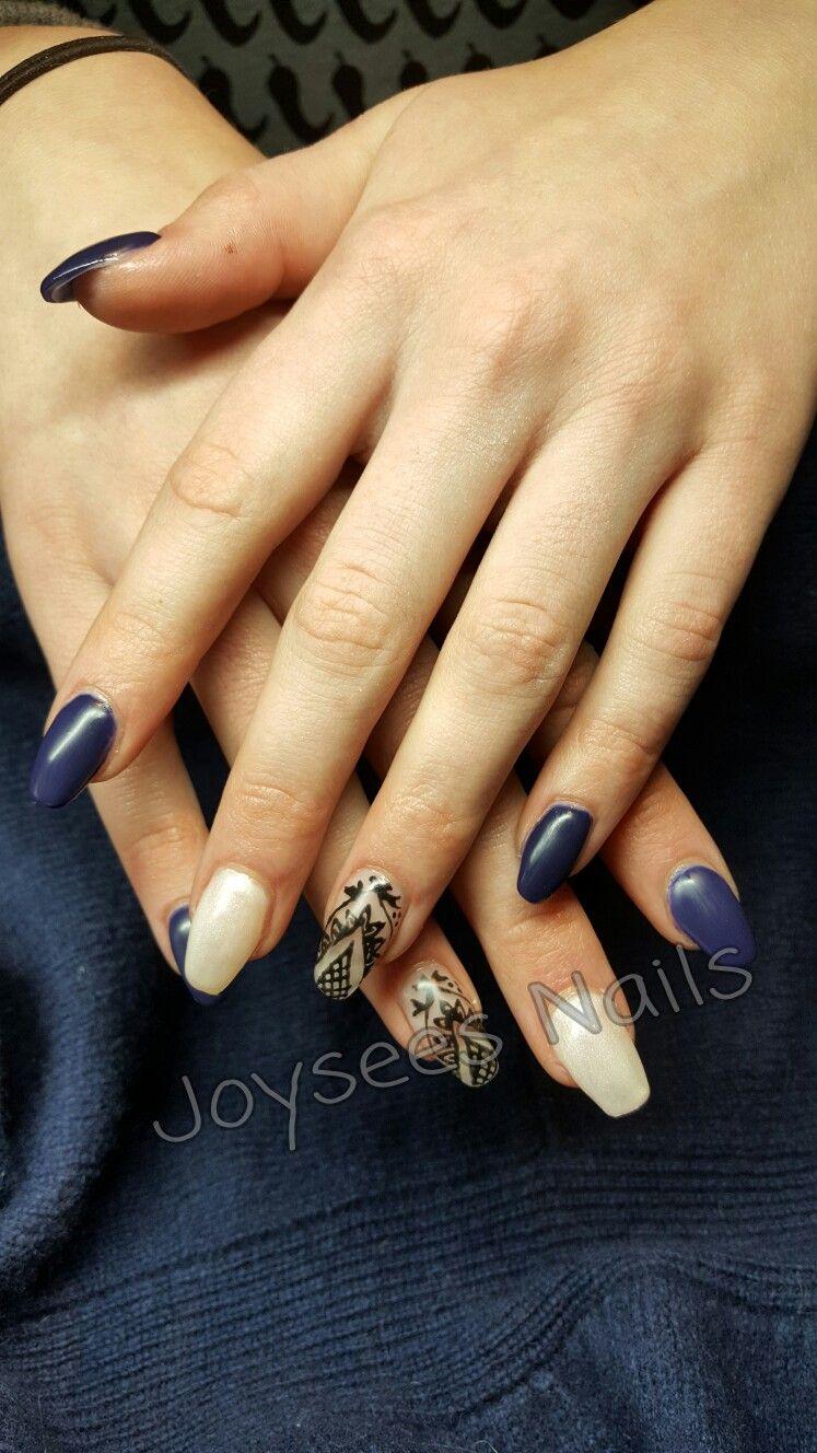 Acryl nagels met handpainted nailart   Made by me....Joysees Nails ...