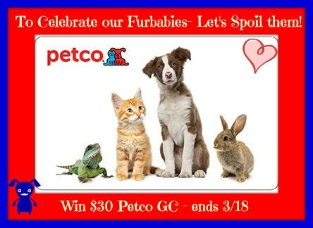 Win A 30 Petco Gc Because We Spoil Our Furbabies Ends 3 18 At 1159p Gift Card Giveaway Pets Discount Gift Cards