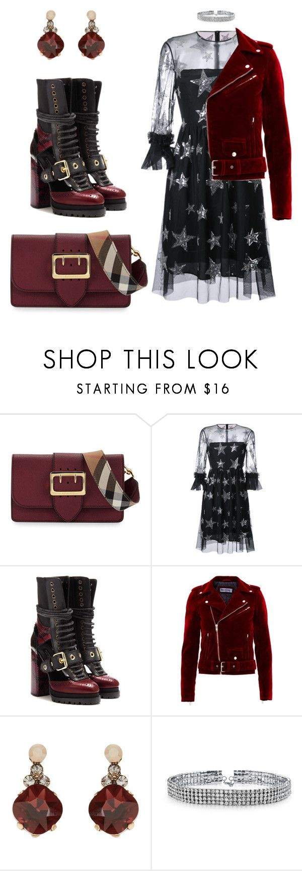 """burberry star"" by ludopolier ❤ liked on Polyvore featuring Burberry, HUISHAN ZHANG, Accessorize and Bling Jewelry"