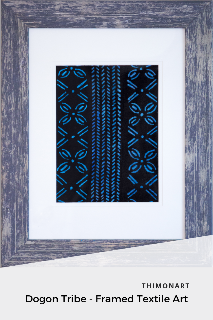 This Framed Textile Art Ideal For Wall Hanging Features A Frame An Authentic African Design Textile And Select Textile Wall Art Textile Art Hanging Wall Art