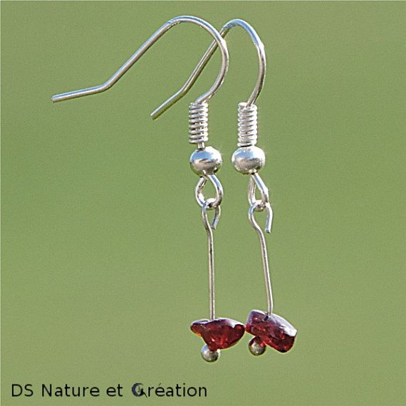 Metaphysical jewelry garnet earrings reiki by DSNatureetCreation www.etsy.com/shop/DSNatureetCreation