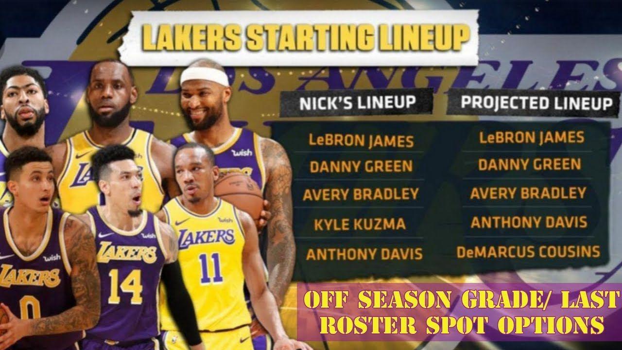 Off Season Grade For Lakers Starting Lineup Rotation Last Roster Spo Anthony Davis Lakers Nba Tv