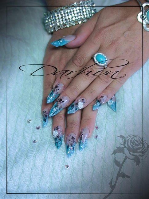 blue - Nail Art Gallery | Nail Art | Pinterest | Nail art galleries ...