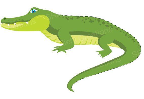 Cute Green Alligator Illustration Crocodile Nursery Printables Safari Baby Shower Clipart Commercia Baby Shower Clipart Crocodile Pictures Animal Clipart