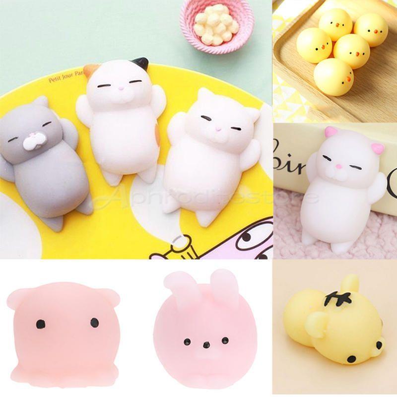 Kawaii Soft Cat Squishy Healing Squeeze Fun Kid Toy Gift