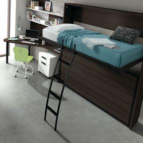 Lits superpos s rabattables 1 personne armoire lit escamotable et rabattable - Lits superposes rabattables ...