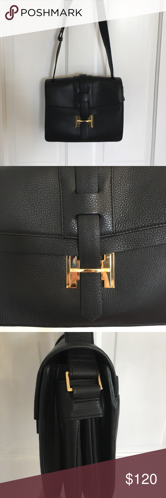 51001e225f3 Halston Heritage Bag GORGEOUS Halston Heritage shoulder bag with shiny gold  hardware. BNWT. it s