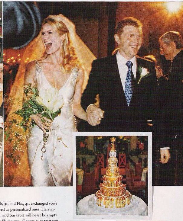 Bobby Flay And Stephanie March Wedding Cake Celebrity Wedding Photos Royal Wedding Cake Celebrity Weddings
