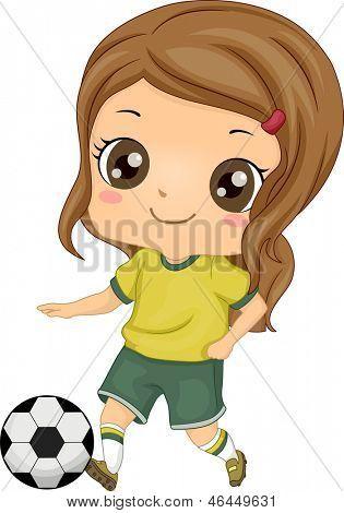 niñas jugando futbol animado - Buscar con Google   Niño