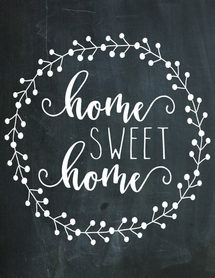 Download This Free Home Sweet Home Chalkboard Printable Here Now