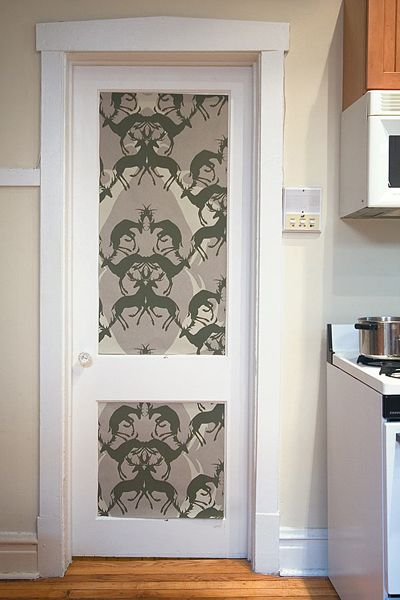 10 Ideas Of Doors Decoration With Wallpapers Bedroom Door Design Wallpaper Door Doors Interior