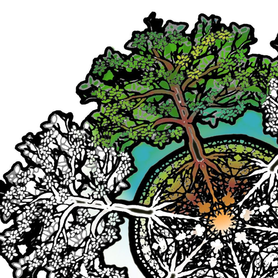 Earth day mandala coloring pages - Earth Day Tree Mandala Coloring Page Printable Download