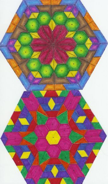 from Mrs McKeeu0027s Math Pages! Kaleioscope Drawing Project on - isometric dot paper