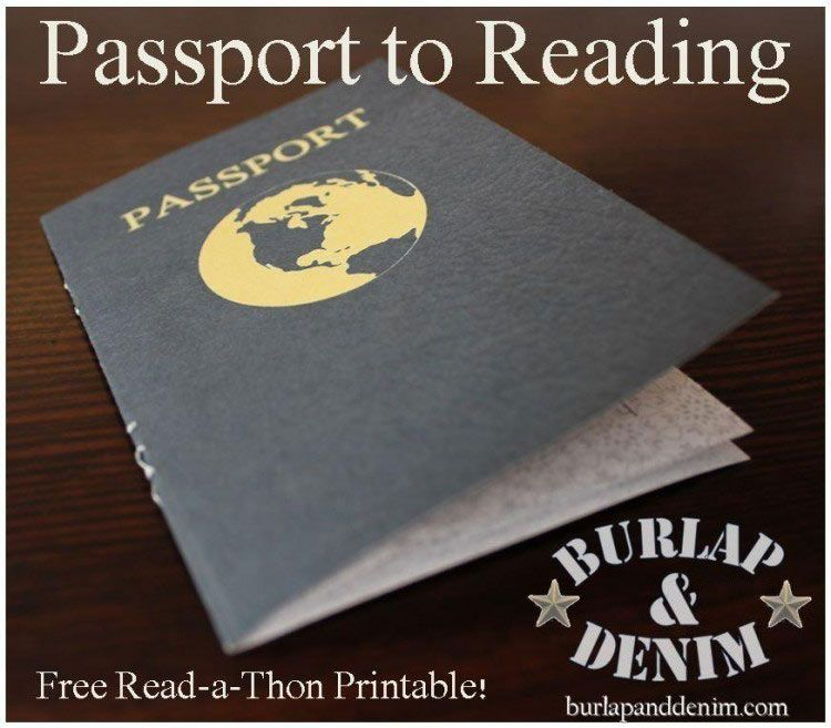 Passport to Reading a Free Read-a-Thon Printable Students record - free passport template for kids