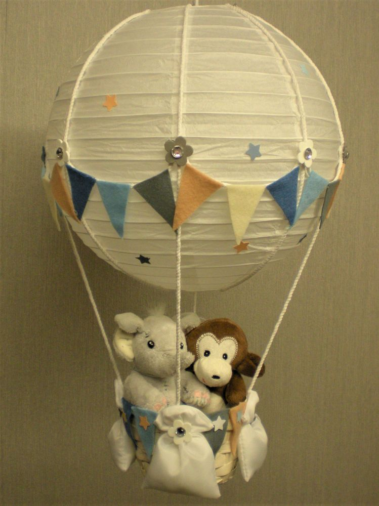 Details About Jungle Friends In Hot Air Balloon Lamp Shade