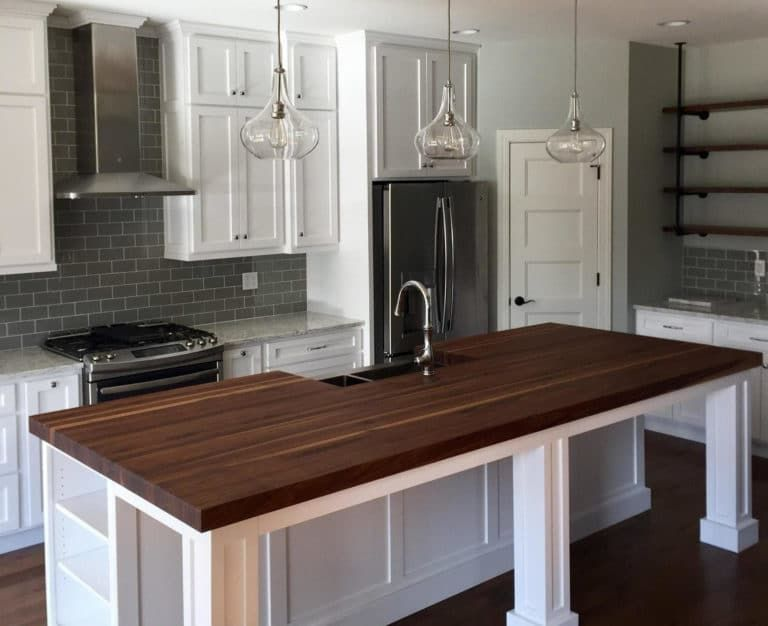 how to stain butcher block black