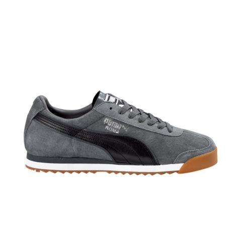Puma Roma Suede in Charcoal Black