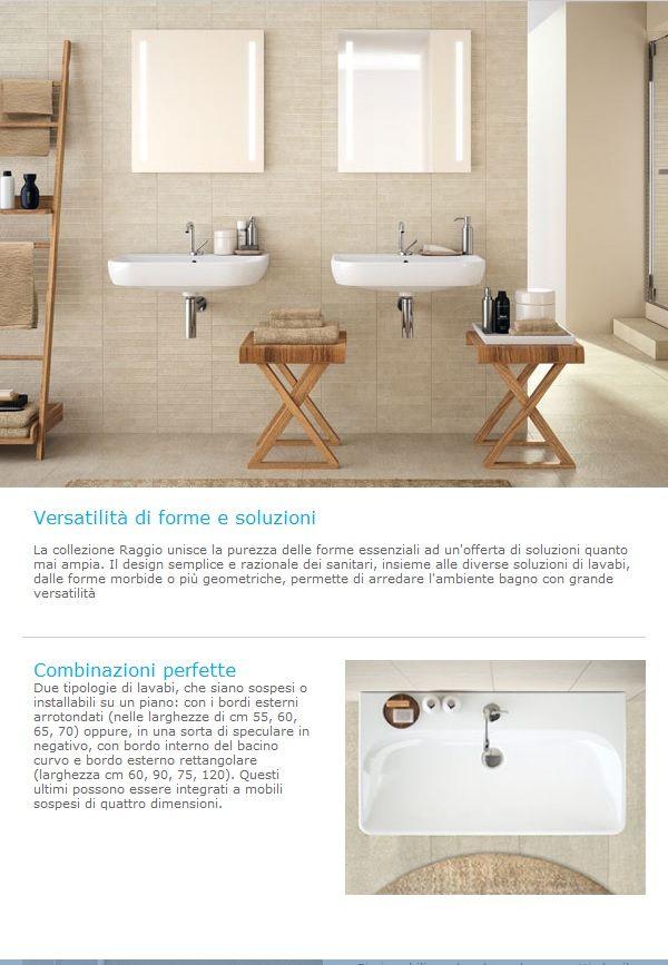 Nuova collezione Raggio di Pozzi Ginori #sanitari e #mobili #bagno ...