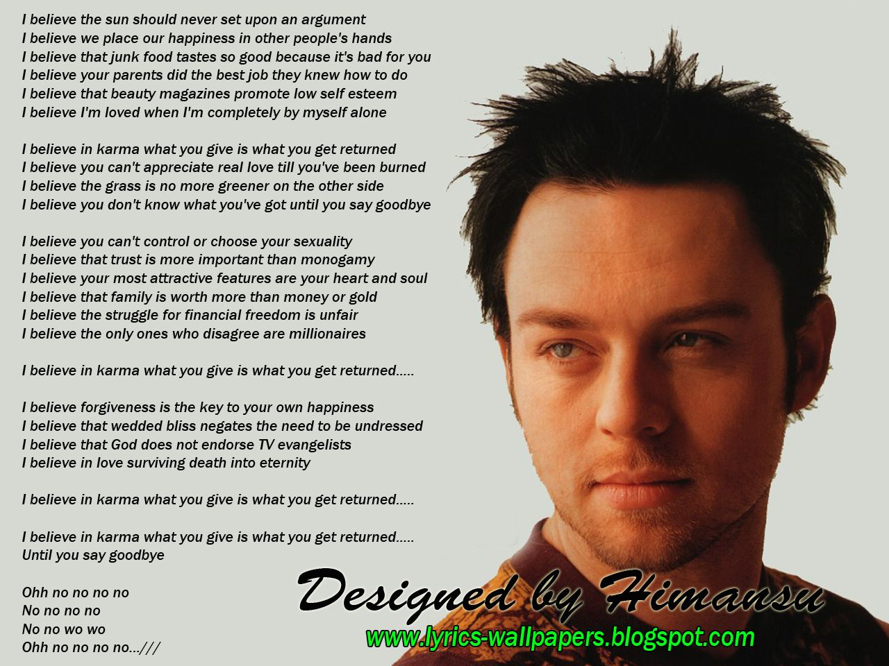 Lyrics Wallpapers: Savage Garden   Affirmation